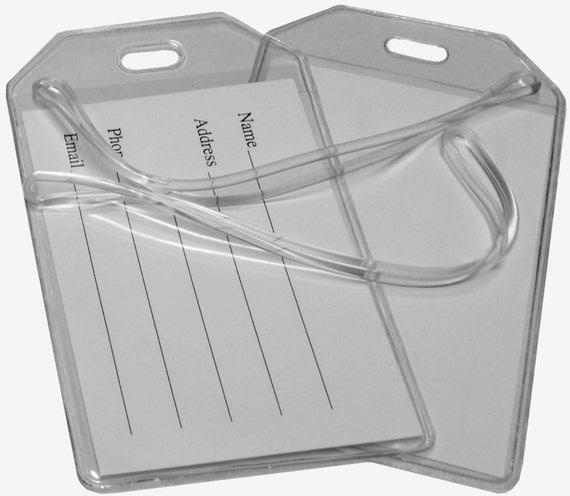 10 Clear Vinyl Loop Luggage Tags Diy Projects