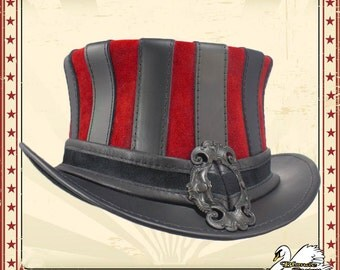 Steampunk Striped Leather Mini-Topper