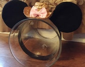 Made to Match Minnie Western themed Cowgirl Hat Girls Stretch Headband Dot Bow Mouse Ears Band Photography Prop