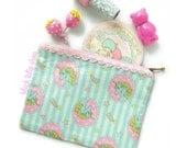 Unicorn Zippered Pouch Pastel Kawaii Zipper Bag Shooting Star Sweet Lolita Fairy Kei Accessories