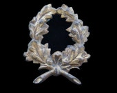 Antique French Cast Iron Wreath Decorative Element