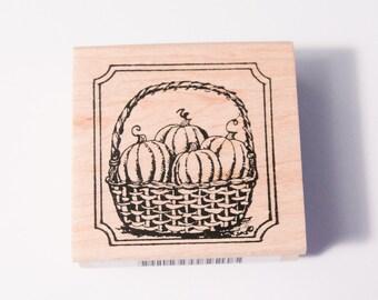 Northwoods stamp Pumpkin Basket in Notched Frame