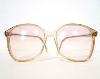 Huge 80s Eyeglass Frames P3 Panto Cat Eye Glasses Clear Rose MOD Vintage Eyeglasses Sunglasses Bug Eye Granny Twon Peaks New List Sale