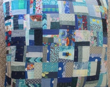 Quilted Oversize Pillow - Blue