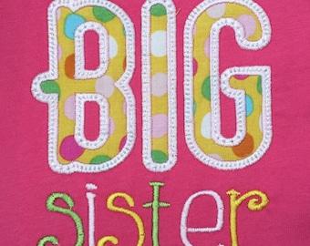Big Sister Toddler T-shirt , sibling t-shirt, polka dot, custom made, made to order