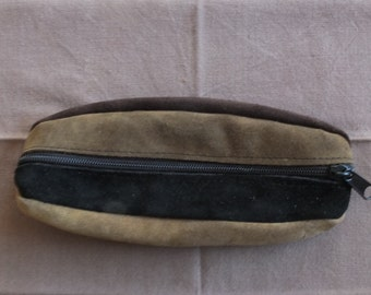 Suede Leather Pencil Case