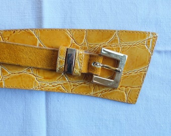 Mustard Italian Leather Belt