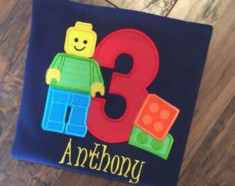 Boys Lego Birthday Shirt