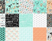 DOG LOVERS by Clothworks Fabrics - 15 piece assortment - BTY - by the yard - bolt - quilt fabric