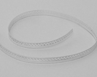 Sterling Silver Gallery Wire Half Solid 1 Foot Package 5.2mm Wide