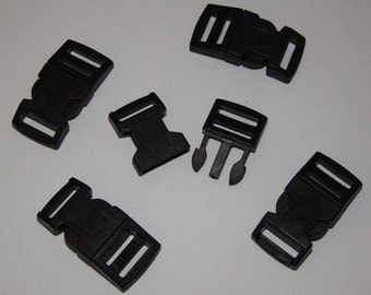 Para Cord 15mm Buckles Black In Color Package Of 5