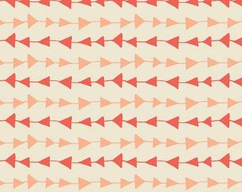 Hello Bear Follow Me Arrows Peach Gallery Fabric