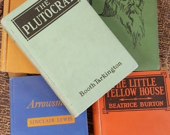 Vintage Colorful Decorative Books from Rustysecrets