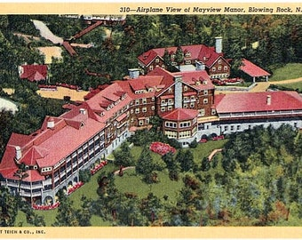 Vintage North Carolina Postcard - Mayview Manor Hotel, Blowing Rock (Unused)