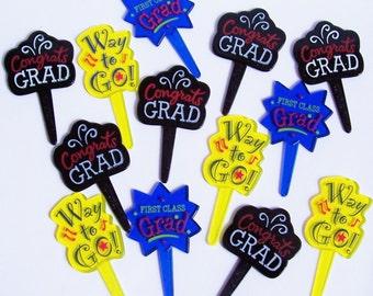 12 Sayings Graduation Picks Cupcake Picks