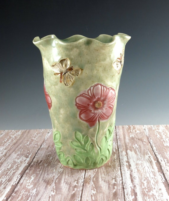 Pottery Vase Flower Vase Decorative Vase Handmade