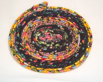 Midnight Garden Coiled Fabric Candle Mat, Table Mat
