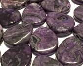 Purple jasper drop top drilled lot of 8 pieces