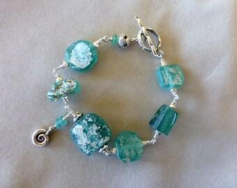 Chunky Ancient Roman Glass Bracelet