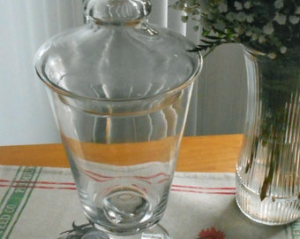 Vintage Apothecary   Lidded Glass Jar