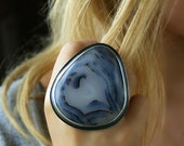 Above the Clouds - Montana Agate Sterling Silver Ring