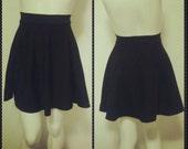 Black Cotton A line Mini Skirt/ A Line skirt/ Mini skirt