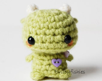 Mini Green Monster - Kawaii Amigurumi Plush