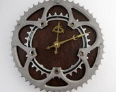 Recycled Shimano & FSA Bicycle Double Chainring Wall Clock