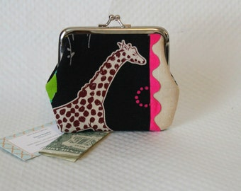 Coin Purse - Change Purse - Black Coin purse - Black Giraffe Change Purse - Change Coin Purse