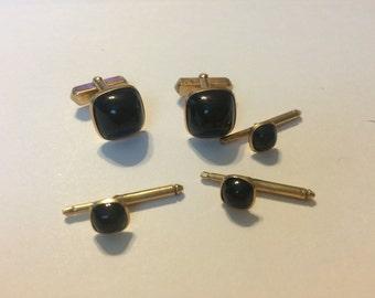 anson vintage cuff links black 26
