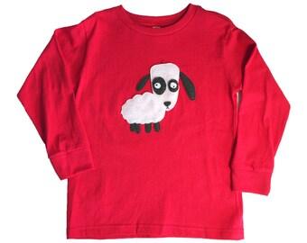 mi cielo x Matthew Langille - Sheep – Red Toddler Longsleeve T-Shirt – Boys or Girls