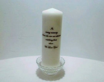 Memory candle, memorial candle,  remembrance candle, for your loved ones or friend in heaven