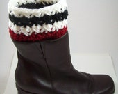 Chicago Blackhawks Boot Cuffs Boot Socks Fingerless Texting Gloves or Set