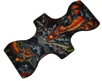 Super Core- Mother of Dragons Reusable Cloth Goddess XL/Postpartum Pad- WindPro Fleece- 16.5 Inches