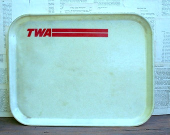Vintage TWA Airline Fiberglass Serving Tray