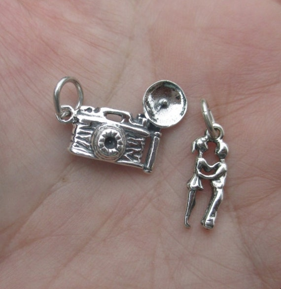 Sterling Silver Camera or Couples Charm-You choose which one