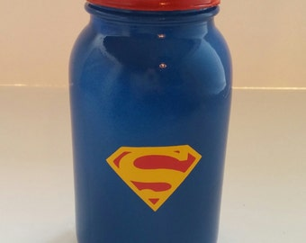 Superman Mason Jar Bank