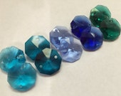 100- 14mm crystals - 2-hole Ocean Collection