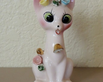 1950s Pink KITTY Figurine, made in Japan