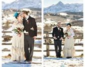 Winter Wedding Dress Colorado Christmas Gown Ruffles Bows Romantic Victorian Offbeat Maxi Bridal Patisserie Ball Custom by Savoyfaire