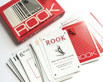 Vintage 1960s Game / Parker Brothers Rook 1968 Like-New Complete / Trick Taking Game, 3 to 6 Players or Solitaire