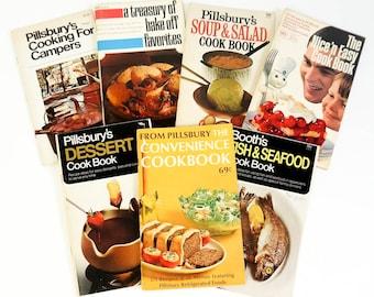 Vintage 1970s Cookbook / 70s Pillsbury Recipe Booklet Set of 7 VGC / Sweet to Savory Comfort Food Favorites Like Grandma's Cooking