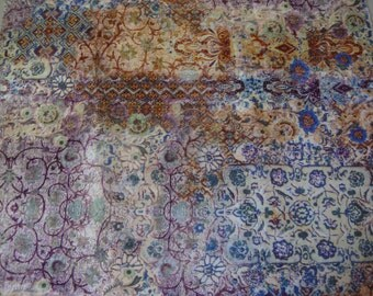 Exotic Print Polyester Minky Fabric 21 x 58 Inches Remnant