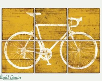 Road Bike Wall Art - Large Bicycle Print - Office Wall Art - Kids Room Decor