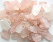 Nautical Wedding Decor Bulk Sea Glass, Bulk Beach Glass, Pink Seaglass, Pink Bulk Seaglass, Beach House Decor Soft Pink, 2 Lbs - #SGBSPM