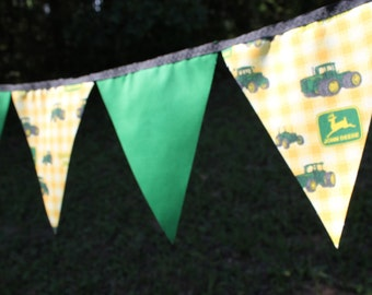 Free USA Shipping/Tractor Fabric Banner/Farm Banner/Green and Yellow Tractor Banner/Photo Prop/Banner/Nursery Banner/Farm Style Party