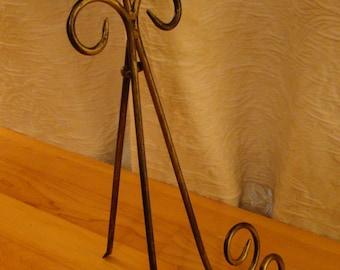 Vintage Metal Table Top Easel / Plate Holder / Frame Holder / Book Holder / Display