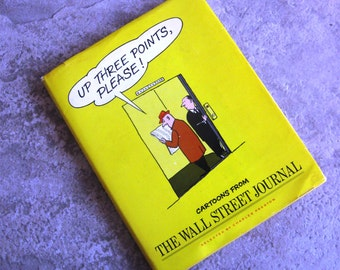 Vintage Book Up Three Points Please Cartoons from the Wall Street Journal Hardcover 1970s