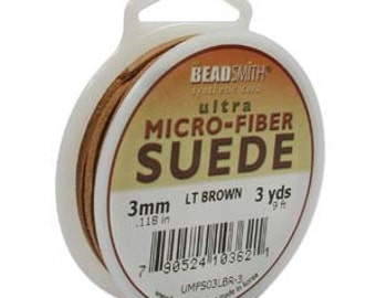 Ultra Micro Fiber Suede 3mm Light Brown 3 yards