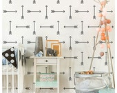 Tribal Arrows Allover Stencil - Large - Reusable stencils for  DIY wall decor - Better than wallpaper!